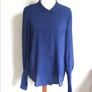 Theyskens' Theory Blue Blouse L